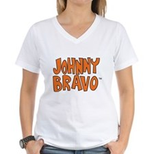 Johnny Bravo Women's V-Neck T-Shirt
