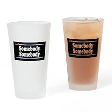 Custom Identity 2 line Drinking Glass