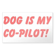 Dog is My Co-pilot sticker