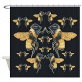 Dancing Bees Shower Curtain