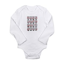 Uke Chord Cheat White Long Sleeve Infant Bodysuit