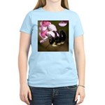 Bee dangles from Judas-tree Women's Light T-Shirt