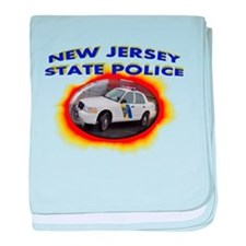New Jersey State Police baby blanket