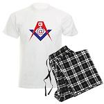 Web Savvy Masons Men's Light Pajamas