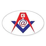 Web Savvy Masons Sticker (Oval 10 pk)