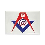 Web Savvy Masons Rectangle Magnet (100 pack)