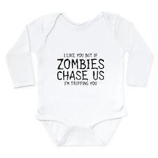 Zombie Chase Long Sleeve Infant Bodysuit