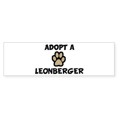 Adopt a LEONBERGER Bumper Sticker