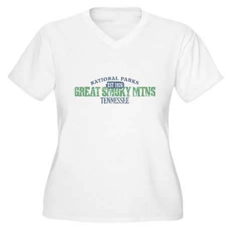 Great Smoky Mountains Nat Par Women's Plus Size V-