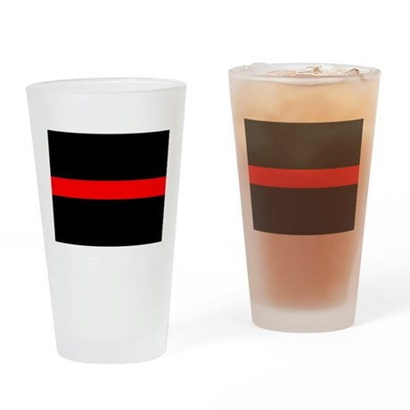 Firefighter Thin Red Line Drinking Glass