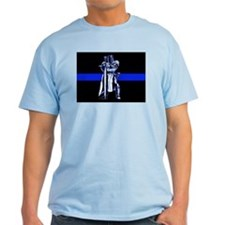 Freemason Templar Thin Blue L T-Shirt