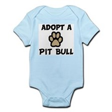 Adopt a PIT BULL Infant Creeper