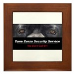 Cane Corso Security Service Framed Tile