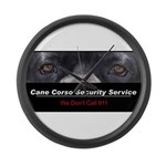 Cane Corso Security Service Large Wall Clock