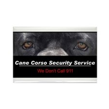 Cane Corso Security Service Rectangle Magnet (10 p