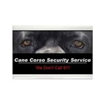 Cane Corso Security Service Rectangle Magnet (100