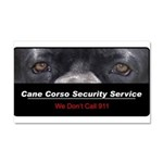 Cane Corso Security Service Car Magnet 20 x 12