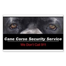 Cane Corso Security Service Decal