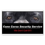 Cane Corso Security Service Sticker (Rectangle 50