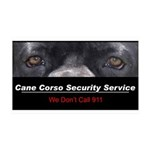 Cane Corso Security Service 38.5 x 24.5 Wall Peel