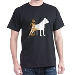 Grunge Cane Corso Silhouette Dark T-Shirt