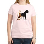 Grunge Cane Corso Silhouette Women's Light T-Shirt
