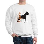 Grunge Cane Corso Silhouette Sweatshirt
