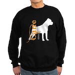 Grunge Cane Corso Silhouette Sweatshirt (dark)