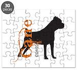 Grunge Cane Corso Silhouette Puzzle