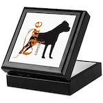 Grunge Cane Corso Silhouette Keepsake Box