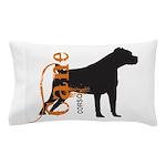 Grunge Cane Corso Silhouette Pillow Case