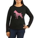 Diamonds Cane Corso Diva Women's Long Sleeve Dark