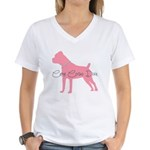 Diamonds Cane Corso Diva Women's V-Neck T-Shirt