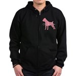 Diamonds Cane Corso Diva Zip Hoodie (dark)