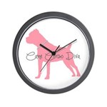 Diamonds Cane Corso Diva Wall Clock