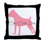 Diamonds Cane Corso Diva Throw Pillow