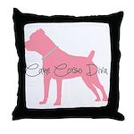 Diamonds Cane Corso Diva Throw Pillow