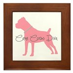 Diamonds Cane Corso Diva Framed Tile