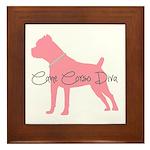 Diamonds Cane Corso Diva Framed Tile