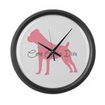 Diamonds Cane Corso Diva Large Wall Clock