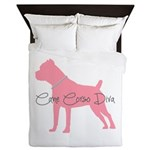 Diamonds Cane Corso Diva Queen Duvet