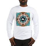 White Buffalo Medicine Wheel Long Sleeve T-Shirt