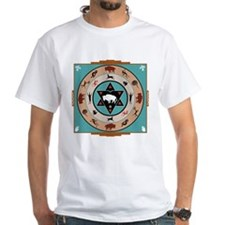 White Buffalo Medicine Wheel Shirt