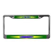 Brasil Flag License Plate Frame