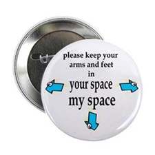 Your Space My Space (white) Button