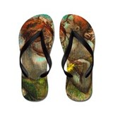 Degas - Two Dancers Flip Flops