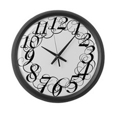 Cute Scribbl Large Wall Clock