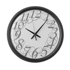 Unique Scribbl Large Wall Clock