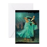 Waltz in a Blue Moon Greeting Cards (Pk of 10)