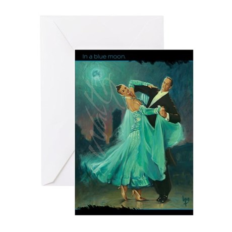 Waltz in a Blue Moon Greeting Cards (Pk of 20)